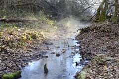 Small river, winter morning Royalty Free Stock Images