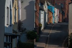 Small road in the city of Bristol. Beautiful small road in the city of Bristol stock photos