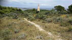 Small road. Near the beach of Pula royalty free stock photos