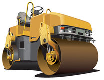 Small road roller. Detailed vectorial image of light-brown double roller, isolated on white background. File contains gradients. No strokes and blends Stock Photo