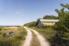 Small road. In the swedish landscape stock image