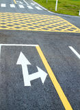 Small road and traffic markings Royalty Free Stock Photo