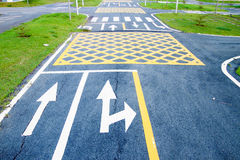 Small road and traffic markings Stock Image
