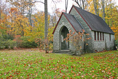 Small Rock Church Stock Photo