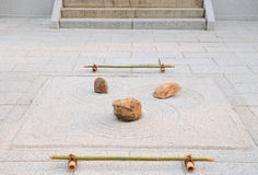 Small rock garden; Yougen-ji temple, Kyoto, Japan. A small zen garden (rock garden or karesansui); yard of Yougen-in temple, East from Sanjusangendo Temple Stock Photo