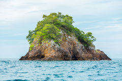 Small rock island on the sea, Lipe, Thailand Stock Photography