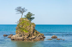 Small rock in the sea of Japan Stock Photo