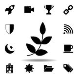 Small rocket silhouette icon. Signs and symbols can be used for web, logo, mobile app, UI, UX. On white background stock illustration