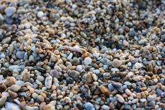 Small Rocks on a Rocky Beach.  Royalty Free Stock Photography