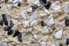 Small rocks on a wall Royalty Free Stock Photos