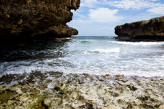 Small rocky bay Stock Images