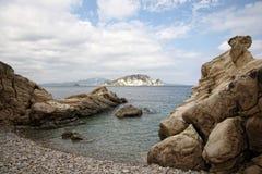 Small rocky beach Stock Photography