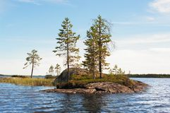 Small rocky island Stock Photography