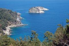 Small rocky island Royalty Free Stock Photos
