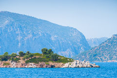 Small rocky island Royalty Free Stock Images