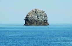 Small rocky island near Corsica Stock Image