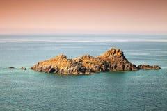 Small rocky island. Sanguinaires, Ajaccio, Corsica Stock Image