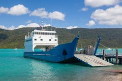 A small roro type car ferry Royalty Free Stock Photography