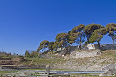 Small Roman amphitheater Stock Images