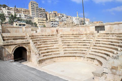 Small roman amphitheater in Amman Royalty Free Stock Image
