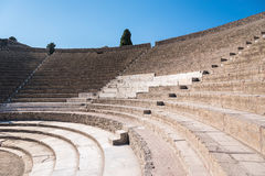 Small Roman theater in the ancient city of Pompeii Stock Photo