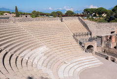 Small Roman theater in the ancient city of Pompeii Stock Images