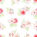 Small romantic bouquets seamless pattern Stock Photography