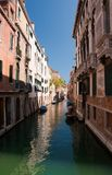 Small romantic canal in Venice. Royalty Free Stock Photo