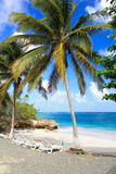 Small romantic tropical sand beach , Cuba. Small romantic tropical sand beach in the Guantanamo province, Cuba Royalty Free Stock Photos