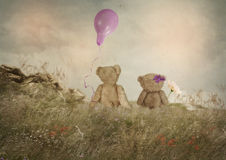 Small romantics. Small teddy bears Catcher in the Rye, romantics Stock Image