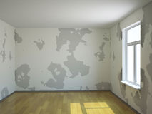 A small room. A small empty room with a window vector illustration