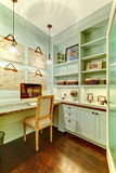 Small Room - Home Office In The Closet. Royalty Free Stock Images