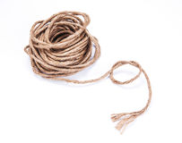 Small rope coiled on white background Stock Photography