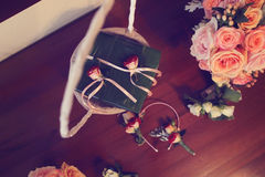 Small roses for wedding decor Stock Images
