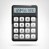 Small round black calculator object isolated. Vector illustration Royalty Free Stock Photo