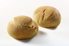 Small round bread_2. Small round bread on white background Stock Photos