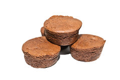 Small Round Brownies Stock Image