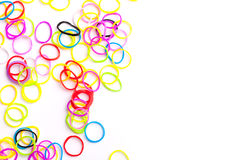 Small round colorful rubber bands for loom bracelets Royalty Free Stock Photos