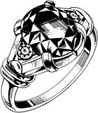 Small Round Gemstone Ring Stock Photography