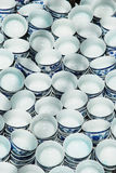 Small round porcelain tea cups Stock Photos