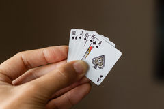 Small royal flush Royalty Free Stock Photo