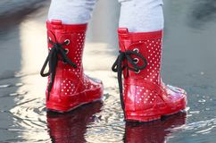 Small rubber wellies stock photography