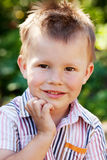 Small ruffled the boy Royalty Free Stock Photography