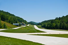 Small Runway in the Mountains Stock Images