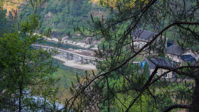 Small Rural Bridge in China royalty free stock photography