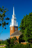 Small Rural Church with Blue Sky Royalty Free Stock Images