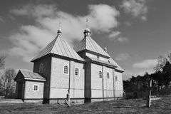 The small rural church in David-town Royalty Free Stock Photos