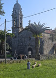 Small rural church in Galicia, Spain Stock Images