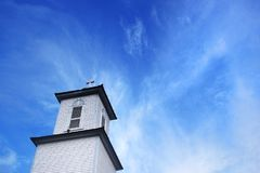 Small rural church steeple. royalty free stock image