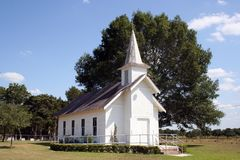 Small Rural Church in Texas Royalty Free Stock Images
